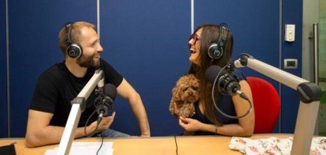 Angelo Vaira e Rosita Celentano negli studi Radio 24
