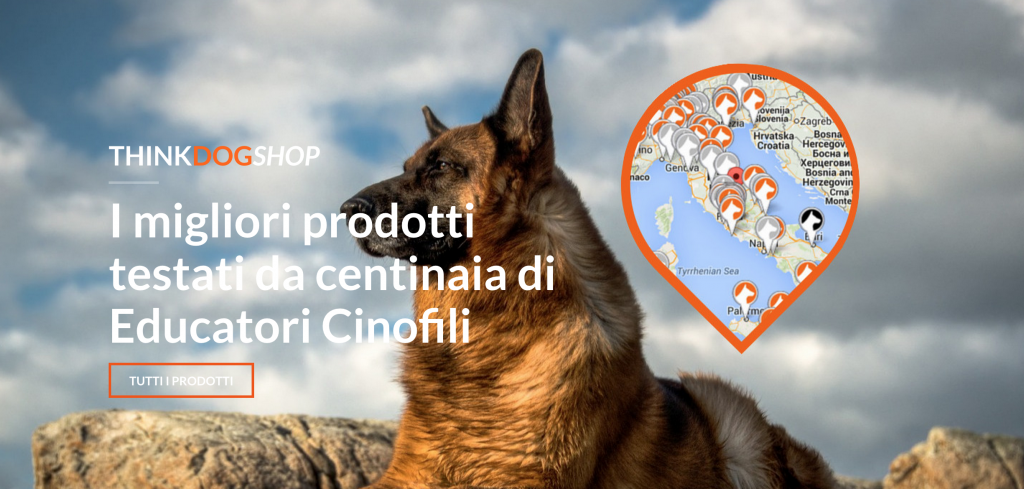 negozio on-line per cani thinkdog