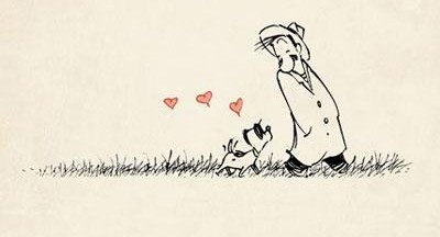 Livello relazioni - comportamento del cane - vignetta di Patrick McDonnel
