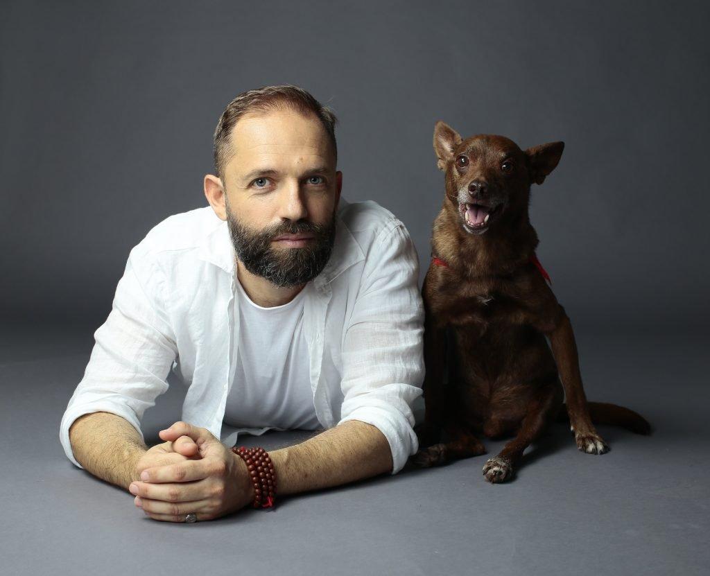 Angelo Vaira e il suo cane Jean Pierre